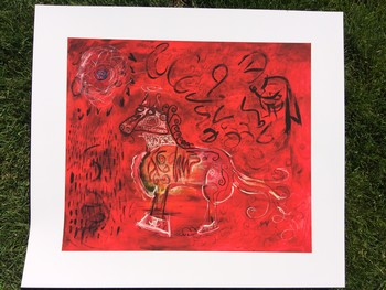 Red Horse Giclee